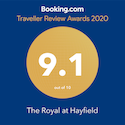 Booking.com Traveller Review Awards 2020 9.1 out of 10